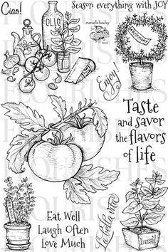 Flourishes Italian Garden Stamp Set