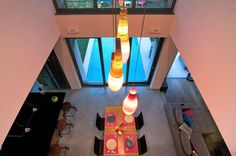 Lava Lamp, Lighting Design, Dining Room, Yard, Construction, Flooring, Interior Design, Architecture, Building