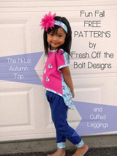 Fresh Off the Bolt: The Hello (Hi-Lo) Autumn Top and Cuffed Leggings Sz 4t
