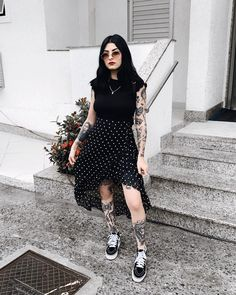 Grunge Dress, Grunge Outfits, Grunge Fashion, Look Fashion, Girl Fashion, Fashion Outfits, Quirky Fashion, Rock Outfits, Casual Outfits