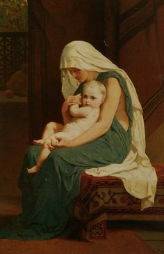 Frederick Goodall - Madonna with the child.