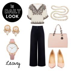 """""""Daily Look 01"""" by lecarg0830 on Polyvore featuring Être Cécile, Love Sam, MICHAEL Michael Kors, Christian Louboutin, DaVonna, Oasis and Carolee"""