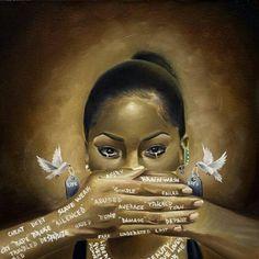 Black Love Art, Black Girl Art, Art Girl, African American Art, African Art, Powerful Art, Black Art Pictures, Black Artwork, Sad Art