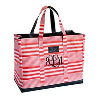 Scout by Bungalow Original Deano - Barbara Stripes and Red with Red, Vine Monogram