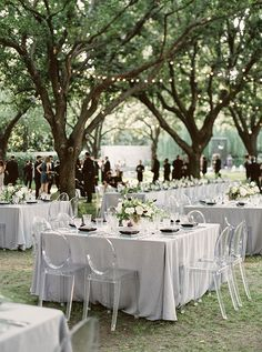 ghost chairs - photo by Sarah Kate Photographer http://ruffledblog.com/modern-minimalist-dallas-wedding