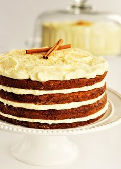 Hawaiian Carrot Cake with Coconut Icing. I'm going to make this for Mark's birthday in the next day or so. I'm going to add toasted walnuts and raisins and I'm going to use buttermilk instead of regular milk because I think buttermilk really makes cakes taste better!
