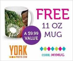 York Photo- FREE Custom Photo Mug + 40 FREE Photo Prints! Ex. 7/31/13! All you pay is shipping!