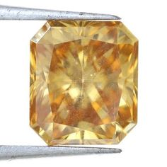 Awesomeness 1.23 Carat Lovely Brown Color Radiant Shape Superb Loose Moissanite