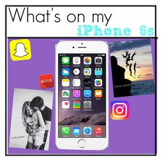 """What's on my iPhone 6s"" by rosslynch-1145 ❤ liked on Polyvore featuring beauty and BRIT*"