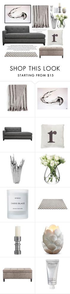 """Deeper"" by heba-j ❤ liked on Polyvore featuring interior, interiors, interior design, home, home decor, interior decorating, Nordstrom, LSA International, Byredo and Arteriors"