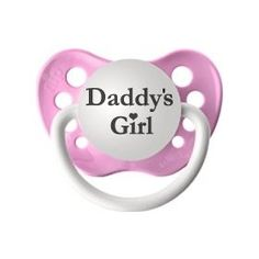 Personalized baby girl princess pacifier baby girl pinterest personalized pacifier daddys girl pink baby clothing baby gift shoe socks negle Image collections