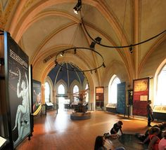 Inside the Tycho Brahe museum. Formerly the church of Tuna. The island of Ven, Skåne County, Sweden. August 2014.