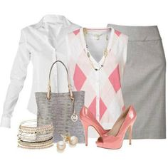 Cute pink business clothes