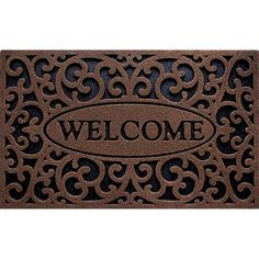 "Clean Scrape ""Welcome"" Iron Doormat"