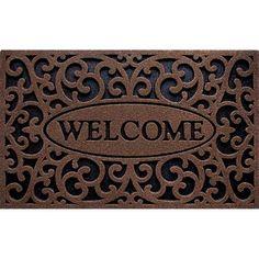 """Clean Scrape """"Welcome"""" Iron Doormat"""