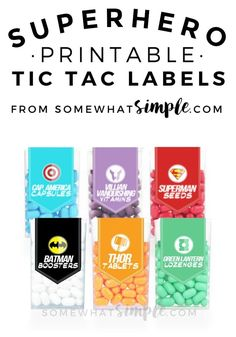 These Superhero Tic Tac Label printables are a perfect addition to your little guy's next celebration!