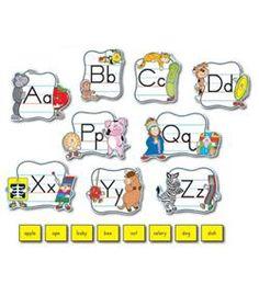 Alphabet: Traditional Manuscript Mini Bulletin Board