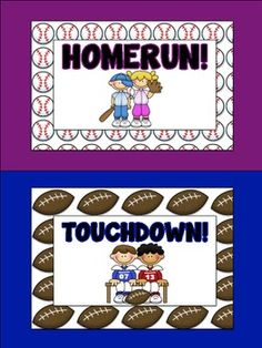 Perfect for a sports themed classroom, you can use this behavior chart and clips to keep track of student behavior.