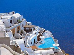Katikies – Oia, Santorini, Cyclades Islands, Greece Rathbun Magical Island - GOING! Katikies Hotel Santorini, Santorini Luxury Hotels, Santorini Greece, Oh The Places You'll Go, Places To Travel, Places To Visit, Dream Vacations, Vacation Spots, Vacation Places