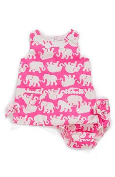 Lilly Pulitzer® 'Baby Lilly' Cotton Shift Dress & Bloomers (Baby Girls) available at #Nordstrom