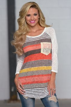 Don't Count Me Out Knit Top - Coral from Closet Candy Boutique