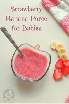 Give your little one a mix of sweet and tart flavors in this bright and nutritious strawberry banana puree for babies! Give your little one a mix of sweet and tart flavors in this bright and nutritious strawberry banana puree for babies! Baby Puree Recipes, Pureed Food Recipes, Baby Food Recipes, Baby Bullet Recipes, Toddler Meals, Kids Meals, Toddler Food, Toddler Schedule, Strawberry Baby