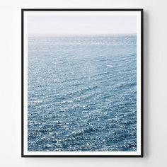 Landcape Print Blue Neutral Photo Sea print by ScandiHomeDesign
