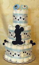 3 Tier Diaper Cake BLUE WALT DISNEY MICKEY MOUSE Baby Shower Centerpiece Boy