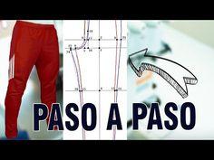 MOLDE DE BUZO O SUDADERA DEPORTIVO PASO A PASO | Tips de Confección - YouTube Dress Patterns, Sewing Patterns, Pattern Drafting, Pants Pattern, Marie, Sweatpants, Leather Jacket, Unisex, Couture