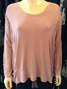 HALF PRICE....A Postcard From Brighton Tammy Lace Chiffon Top in Rose Dust