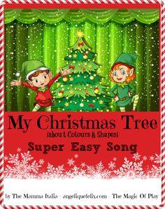Super Easy Christmas song for Kids - colors & shapes - CHRISTMAS TREE #christmas2013