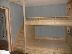 built in bunks with stairs built-in bunk beds - Off-topic - Wood Talk Online by janis Source by cama Bunk Beds Built In, Modern Bunk Beds, Bunk Beds With Stairs, Kids Bunk Beds, Ikea Bunk Bed, Queen Bunk Beds, Double Bunk Beds, Bunk Bed Plans, Triple Bunk
