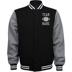 Personalized Football Coach Fleece Varsity Jacket | Available in other styles & colors.
