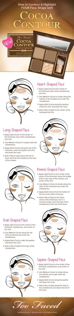 Contouring to your face shape with Too Faced Cocoa Contour Kit | thebeautyspotqld.com.au