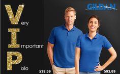 BE VIP with DryBlend® Double Piqué Polo from Gildan
