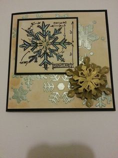 Snowflakes,  irredescent paint medium