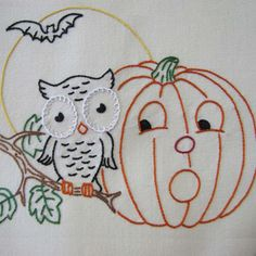 Yesterday's Charm Halloween Enchantment hand embroidery