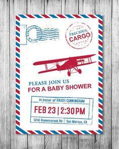precious_cargo_baby_shower_ Airplane Baby Shower, Baby Shower Fun, Baby Shower Themes, Baby Shower Decorations, Baby Shower Gifts, Shower Ideas, Travel Baby Showers, Couples Baby Showers, Baby Shower Printables