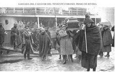 Llegada del cadáver del teniente coronel Primo de Rivera