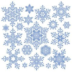 une variété de matériel vecteur flocon de neige -2 .... à télécharger