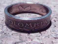 Ringe - Ring,aus Colombia Münze,innen 16-20mm erhältlich - ein Designerstück von schmuck-checker bei DaWanda