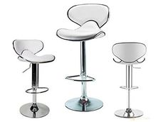 Special Offers - 2 White Modern Adjustable Counter Swivel Pub Style Bar Stools / Barstools (White) - In stock & Free Shipping. You can save more money! Check It (May 21 2016 at 08:24AM) >> http://sectionalsofasxl.net/2-white-modern-adjustable-counter-swivel-pub-style-bar-stools-barstools-white/