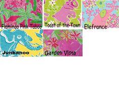 Lilly Pulitzer Line IDs - Monkey/ Giraffe/ Elephant/ Zebra/ Rhino Prints