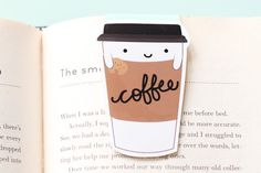 Coffee Paper Cup Magnetic Bookmark (Jumbo)