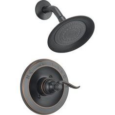 Delta Windemere Oil-Rubbed Bronze 1-Handle Shower Faucet Trim Kit with Single-Function Showerhead