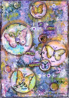 Mixed media collage for Sizzix DT. Size 21*15 cm. Made by Daria Pneva. daria-pn.blogspot.com