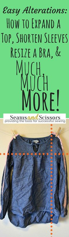 cool Easy Clothing Alterations from SeamsandScissors.com...