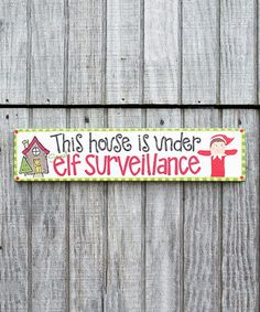 Another great find on #zulily! The Elf on the Shelf 'Surveillance' Wrapped Canvas #zulilyfinds