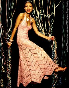 "Vintage CROCHET Dress Pattern -  ""MAXI"" Chevron Pattern PDF Wedding Evening. $3.20, via Etsy."