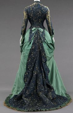 afternoon dress, worth 1875